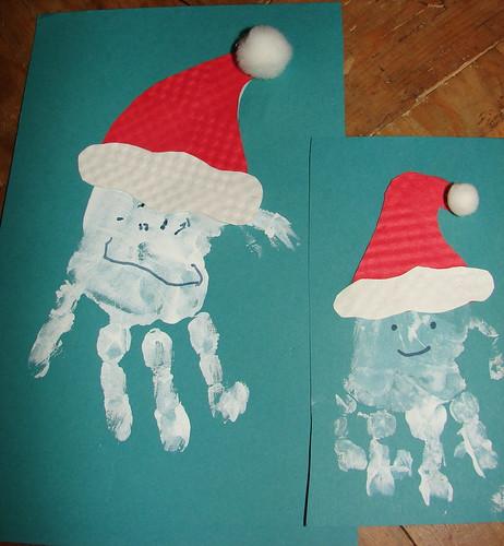 handprint Santas