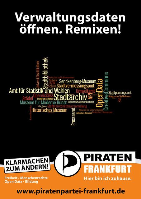 Piraten: Plakatentwurf zur Frankfurter Kommunalwahl 2011