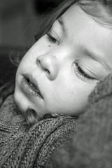 Dreamy and tired.. ([Jrgen]) Tags: portrait blackandwhite bw harderwijk photoshopelements9