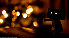 Lights (woodandink) Tags: christmas 35mm toys nikon cardboard f18 danbo d40 danboard