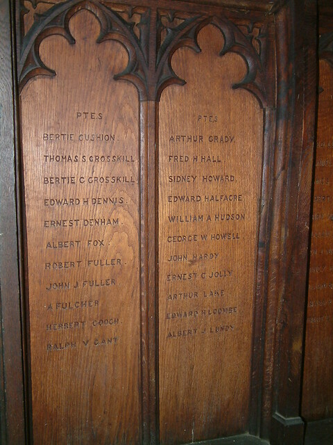 St Augustine - Great War Roll of Honour Panels 3 and 4 by Moominpappa06