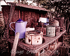 cold coffee {nostalgia series} (Sage Creek Galleries) Tags: old vintage oven urbandecay nostalgia teapot topazadjust