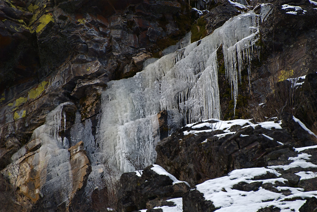 Cliff icicles