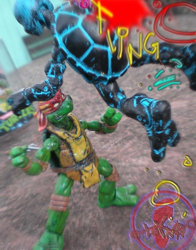 """WRESTLING RAPHAEL v. """"Rising Sun"""" Donatello  vi"""