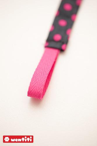 tuttekoord roze stip