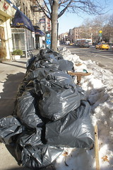 East Village post-storm trash