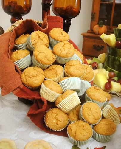 Bridal shower mini pumpkin muffins