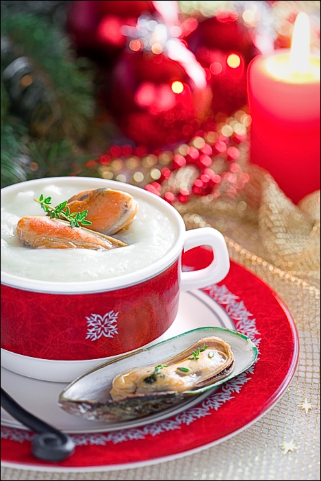 Soup with mussels