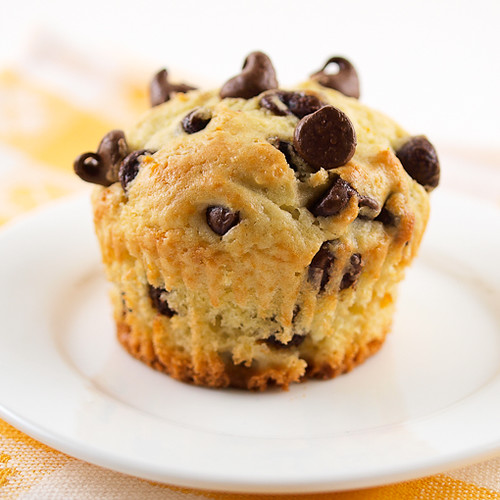 Orange Sour Cream Chocolate Chip Muffins