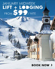 Mammoth lift & lodging promotion