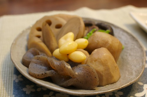 お煮しめ with Sunchoke