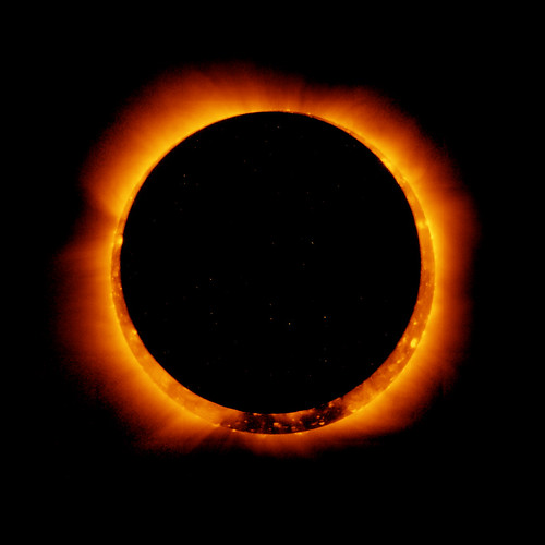 Hinode Observes Annular Solar Eclipse