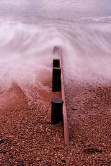 Waves around a groyne (MacBeales) Tags: uk longexposure england seascape beach waves pebbles solent milfordonsea neutraldensity