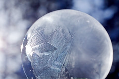 Ice crystals in a frozen bubble (TomFalconer) Tags: cold macro ice frozen crystals bubble