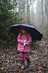 Woodland mushroom (horrigans) Tags: mist girl fog umbrella woodland walk maddy gedling