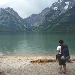 hiking by the tetons, wyoming (catherine.roach) Tags: hiking backpacking wyoming tetons leighlake