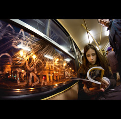 Day Nine (ODPictures Art Studio LTD - Hungary) Tags: portrait fish eye public hungary angle budapest transport wide tram fisheye 365 8mm ultra bori nationalgeographic villamos ultrawideangle samyang gellrttr nagyltszg samyang8mmf35 orbandomonkoshu