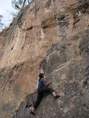 Rock Climbing - difficult route