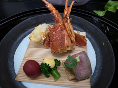 Japanese tea-ceremony dishes, lobster