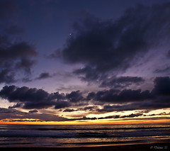 Crescent Moon (Didenze) Tags: ocean light sunset sky moon clouds glow purple explore northbeach sanclemente crescentmoon canon450d vertorama didenze