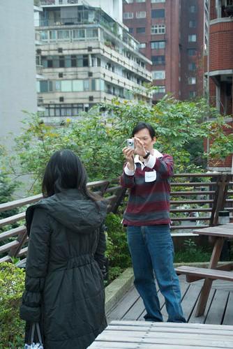 台北行道會的3樓空中花園,也是拍照的好地方哦