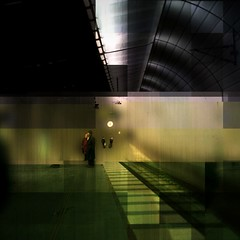 Waiting for a visitor (Anders Uddeskog) Tags: cameraphone iris light urban art texture mobile espoo finland subway phone sweden cellphone mobilephone photostudio pixels malm iphone photofx phoneography iphoneart iphoneography iphone3gs blurfx decim8