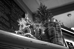 Treats (Niklas Weikert) Tags: blackandwhite food kitchen cookies work documentary plates hungry enviromental restraunt 60d 5southmain