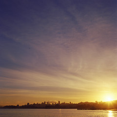 Every day is a new beginning. Treat it that way. Stay away from what might have been, and look at what can be. (diyosa) Tags: sanfrancisco film sunrise landscape quote slide hasselblad500cm kodakektachromee100vs fromcrissyfield marshapetriesue