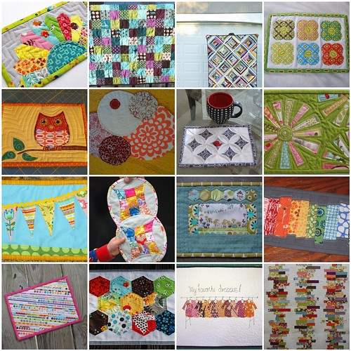 scrappy mug rug swap inspiration board