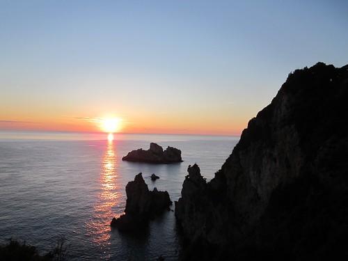 Paleokastrites, Sunset