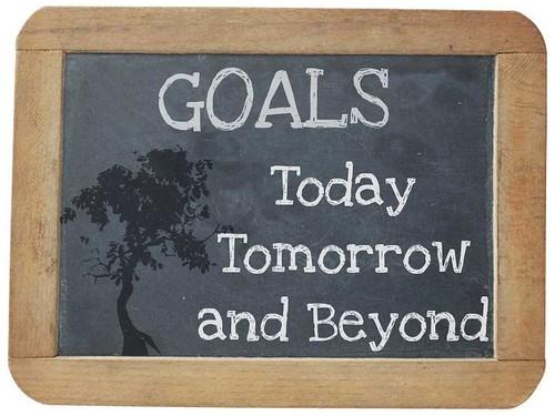 goals chalkboard