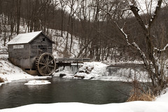 Hyde's Mill (lindsay_kaun) Tags: trees winter snow mill wisconsin waterfall arena wisconsinwinter hydesmill