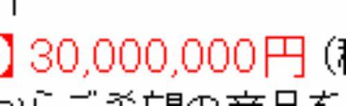 3000万円のかけ布団