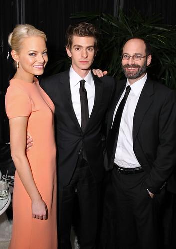 01 Emma Stone y Andrew Garfield en los premios de Globos de Oro
