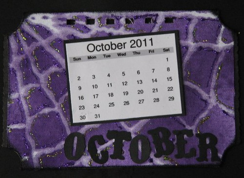 Ranger Technique Calendar - October - Sticky Back Canvas 012