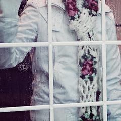! ( غ ــآلـيـۃ) Tags: white cold rain weather rose scarf drops jacket tuesday ghalia riyadhs