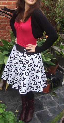 numbers skirt