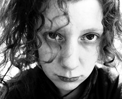 20/365: If you fuck with me, I will fuck you up, and then my brothers will fuck you up (joyjwaller) Tags: family portrait blackandwhite selfportrait love face japan tokyo eyes anarchy curl angst hick project365 dontfuckwithme thethumbnaillookslikeedwardscissorhands