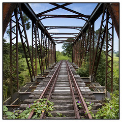 Leading Nowhere (xxSandyxx) Tags: old bridge train canon tracks railway australia nsw eltham 1585mm canon7d