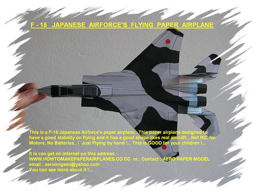 How to make an F-15 Paper Plane | Origami F-15 Jet Fighter Paper ... | 376x500