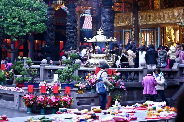 at Longshan Temple