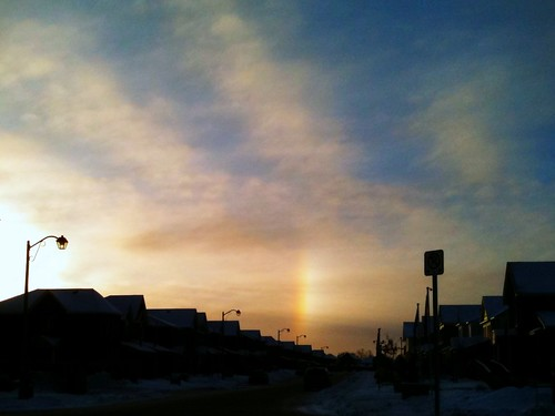 30:365 Ice crystal rainbow at sunrise