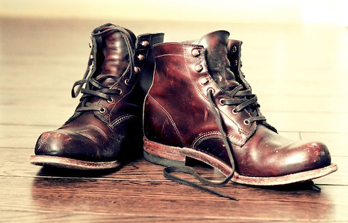 leather vintage boots footwear sole rugged laces 365project wolverine1000mile