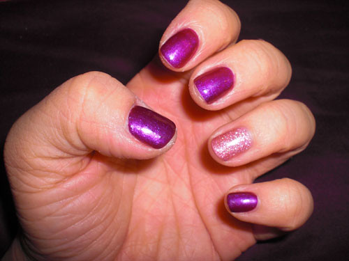 Purple & Pink Manicure!