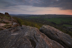 Pink Froggatt (andy_AHG) Tags: sunset rural outdoors evening spring rocks derwentvalley derbyshire peakdistrict scenic moors pennines darkpeak britishcountryside northernengland froggattedge landscapephotography beautifullandscapes easternedges