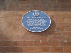 Photo of Leeds Union Workhouse, William Perkin, and Elisha Backhouse blue plaque
