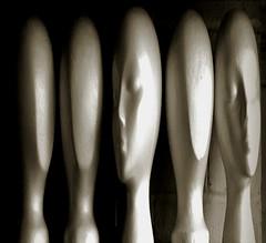 Long & Tall (BKHagar *Kim*) Tags: bkhagar head heads face faces styrofoam form distorted distortion monochrome alien