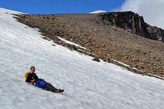 The Quick Way Down (Sotosoroto) Tags: dayhike hiking mtrainier burroughsmountain cascades washington mountains snow