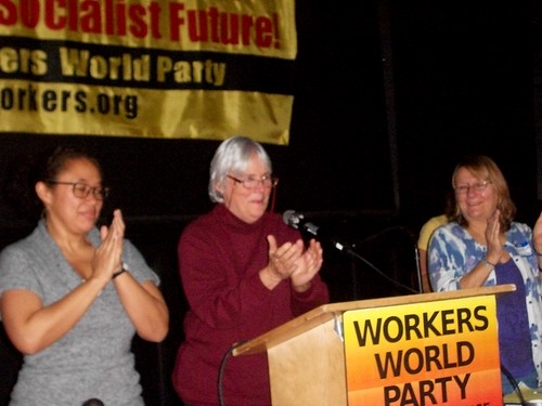 LeiLani Dowell, managing editor of Workers World newspaper, along with Deirdre Griswold, editor-in-chief, and Gloria Rubac, contributing editor, at the national conference on Nov. 14, 2010. (Photo: Abayomi Azikiwe) by Pan-African News Wire File Photos