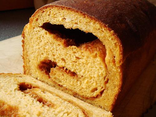 Double Sweet Potato Caramel Swirl Bread: Vanilla Specks!
